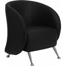 Flash Furniture ZB-JET-855-BLACK-GG HERCULES Jet Series Black Leather Reception Chair