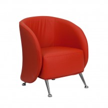 Flash Furniture ZB-JET-855-RED-GG HERCULES Jet Series Red Leather Reception Chair