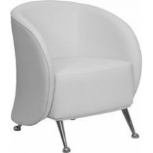Flash Furniture ZB-JET-855-WH-GG HERCULES Jet Series White Leather Reception Chair