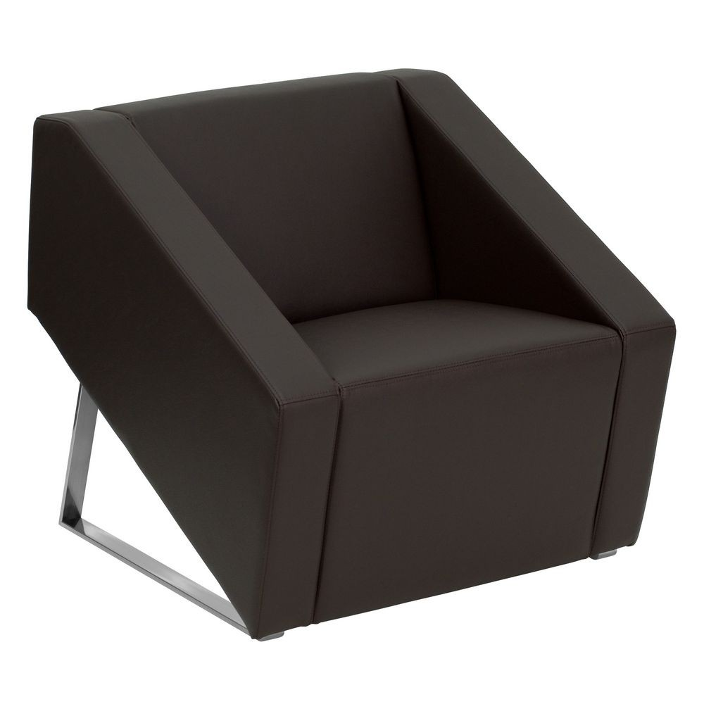 Flash Furniture ZB-SMART-BROWN-GG HERCULES Smart Series Brown Leather Reception Chair