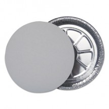 """Flat Foil Board Lids for 9"""" Round Containers, 500/Carton"""