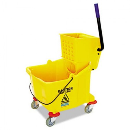 Side-Press Bucket/Wringer Combo, Yellow 8.75 Gallon,