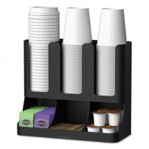 Mind Reader Flume Six-Section Upright Coffee Condiment/Cup Organizer