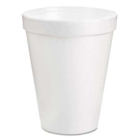 Foam Drink Cups, 8oz, White, 25/Pack