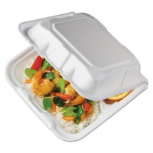 Foam Hinged Lid Containers, White, 8.44 x 8.13 x 3,artment, 150/Carton