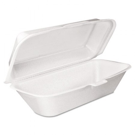 Dart Foam Hoagie Containers with Removable Lid, 9-4/5x5-3/10x3-3/10,  500/Carton