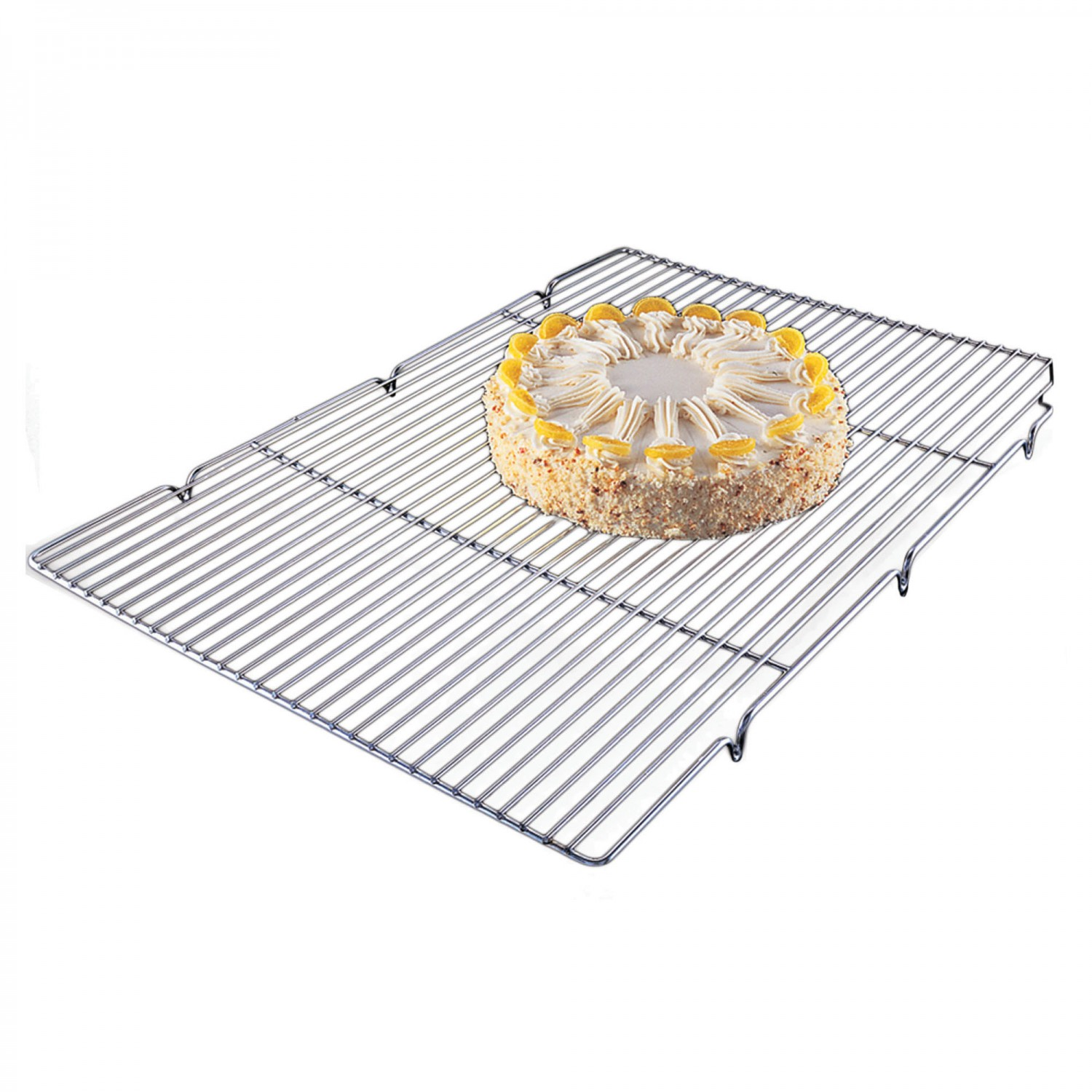 "Focus Foodservice 301WS Chrome Plated Steel Wire Cooling Rack 24-1/2"" x 16-1/2"""