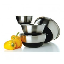 Focus 875SBK 3 Piece Non-Skid Mixing Bowl Set - Case of 4