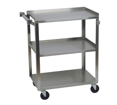 Focus Foodservice 90312 Open Base 3 Shelf Utility Cart