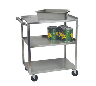 Focus Foodservice 90322 Open Base 3 Shelf Utility Cart
