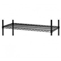 "Focus Foodservice FF1472BK 14"" x 72"" Black Epoxy Coated Wire Shelf"