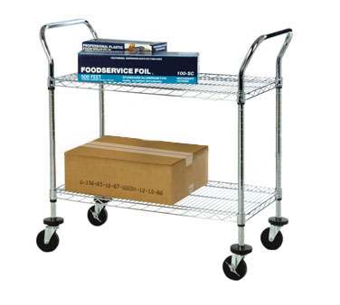 Focus Foodservice FFC18362CH 2 Shelf Utility Cart