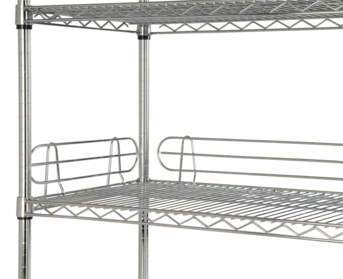 Focus Foodservice FL184C 18'' Shelf Ledge - 4 pcs