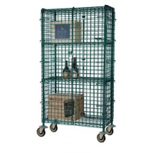Focus Foodservice FMSEC2460GN 24'' Security Cage Complete Mobile Kit