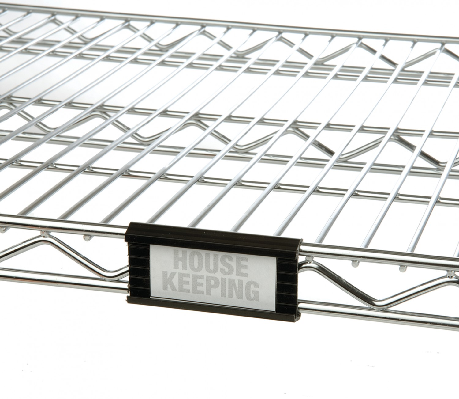 Focus Foodservice FSHELF3B 3'' Black Plastic Shelf Label