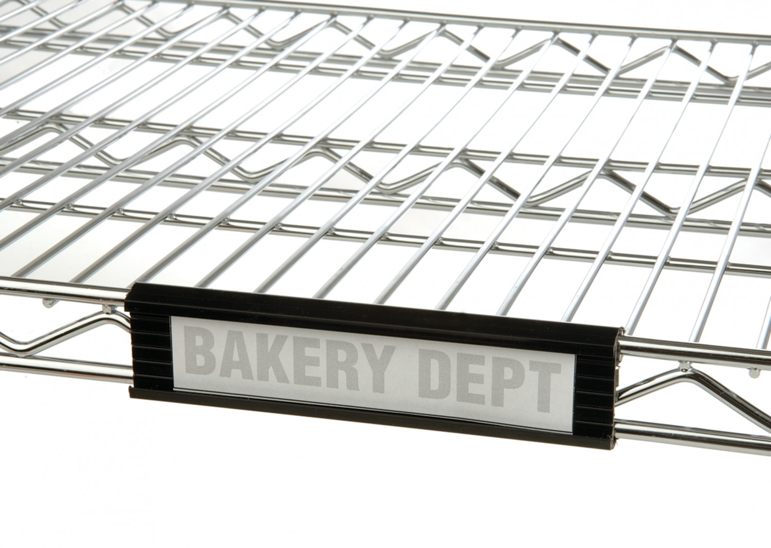 Focus Foodservice FSHELF6B 6'' Black Plastic Shelf Label