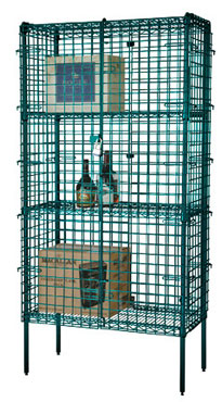 Focus Foodservice FSSEC2436GN 24'' Security Cage Complete Stationary Kit