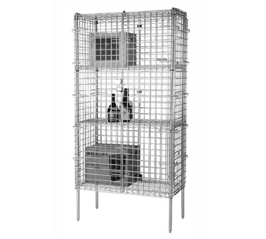 Focus Foodservice FSSEC2448 24'' Security Cage Complete Stationary Kit