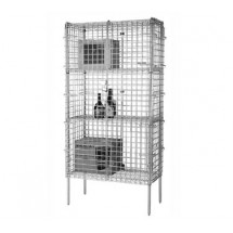 Focus Foodservice FSSEC2460 24'' Security Cage Complete Stationary Kit