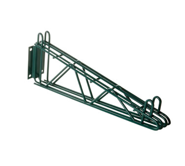 Focus Foodservice FWB18DG 18'' Direct Mount Green Epoxy Coated Double Wall Brackets