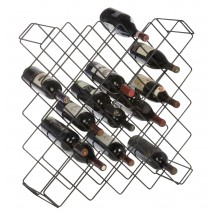 Focus Foodservice FWBR45BK Display Wine Rack with 45 Bottle Capacity