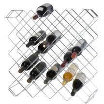 Focus Foodservice FWBR45CH Chromate Wine Rack with 45 Bottle Capacity