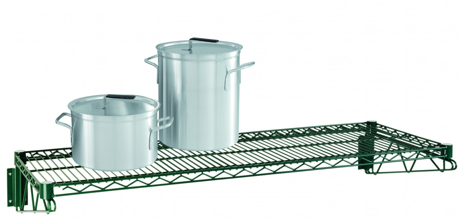 Focus Foodservice FWS1436G Green Epoxy Coated Direct Wall Mount Kit