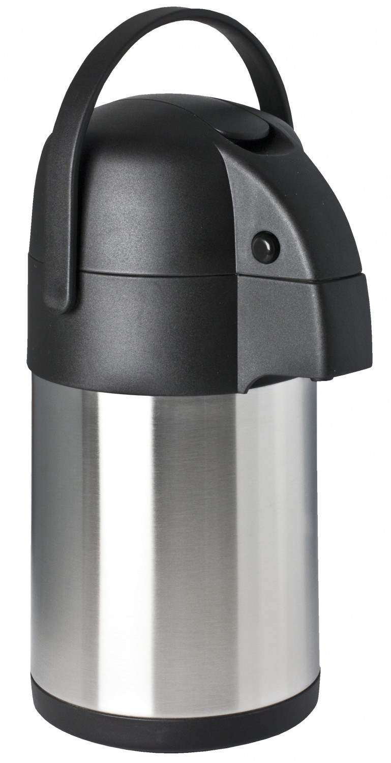Focus Foodservice 908825LV 2.5 Liter Stainless Steel Airpot with Lever