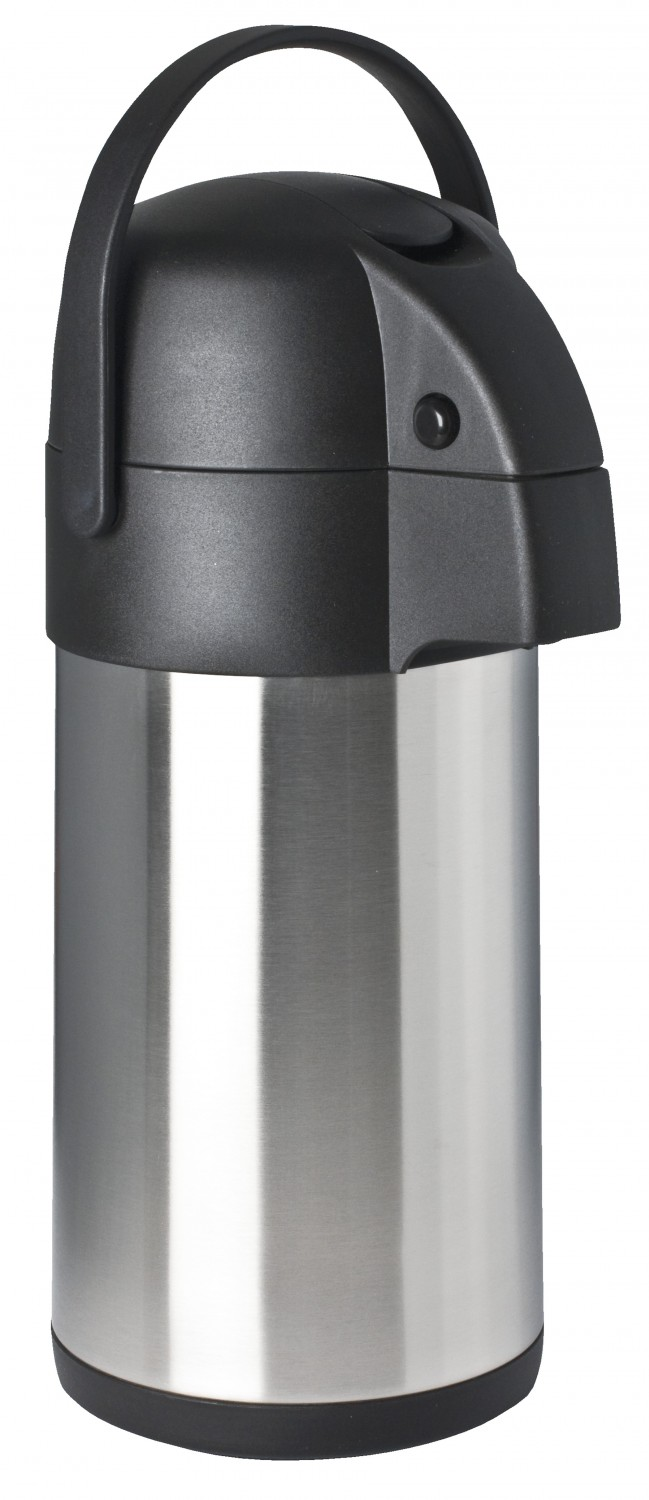 Focus Foodservice 908830LV 3 Liter Stainless Steel Airpot with Lever