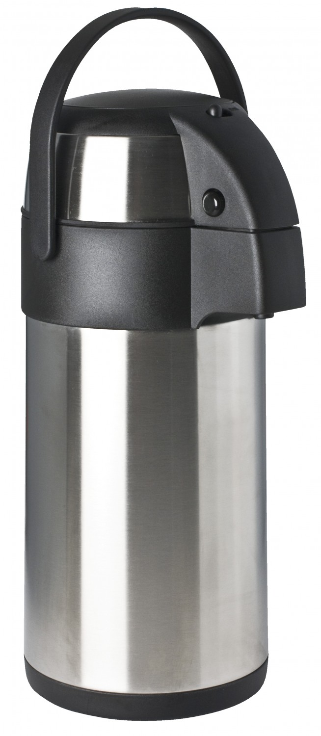 Focus Foodservice Foodservice 908830PB 3 Liter Stainless Steel Airpot with Push Button