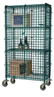 Focus Foodservice FMSEC2436GN 24'' Security Cage Complete Mobile Kit