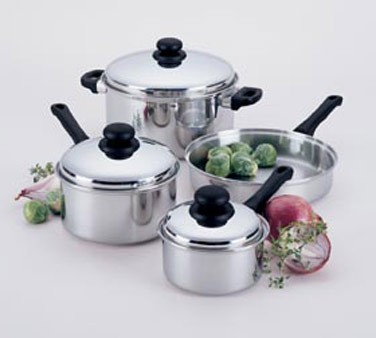 """Focus Foodservice KPWB9030CV Stainless Steel Cover 10"""" - 4 pcs"""
