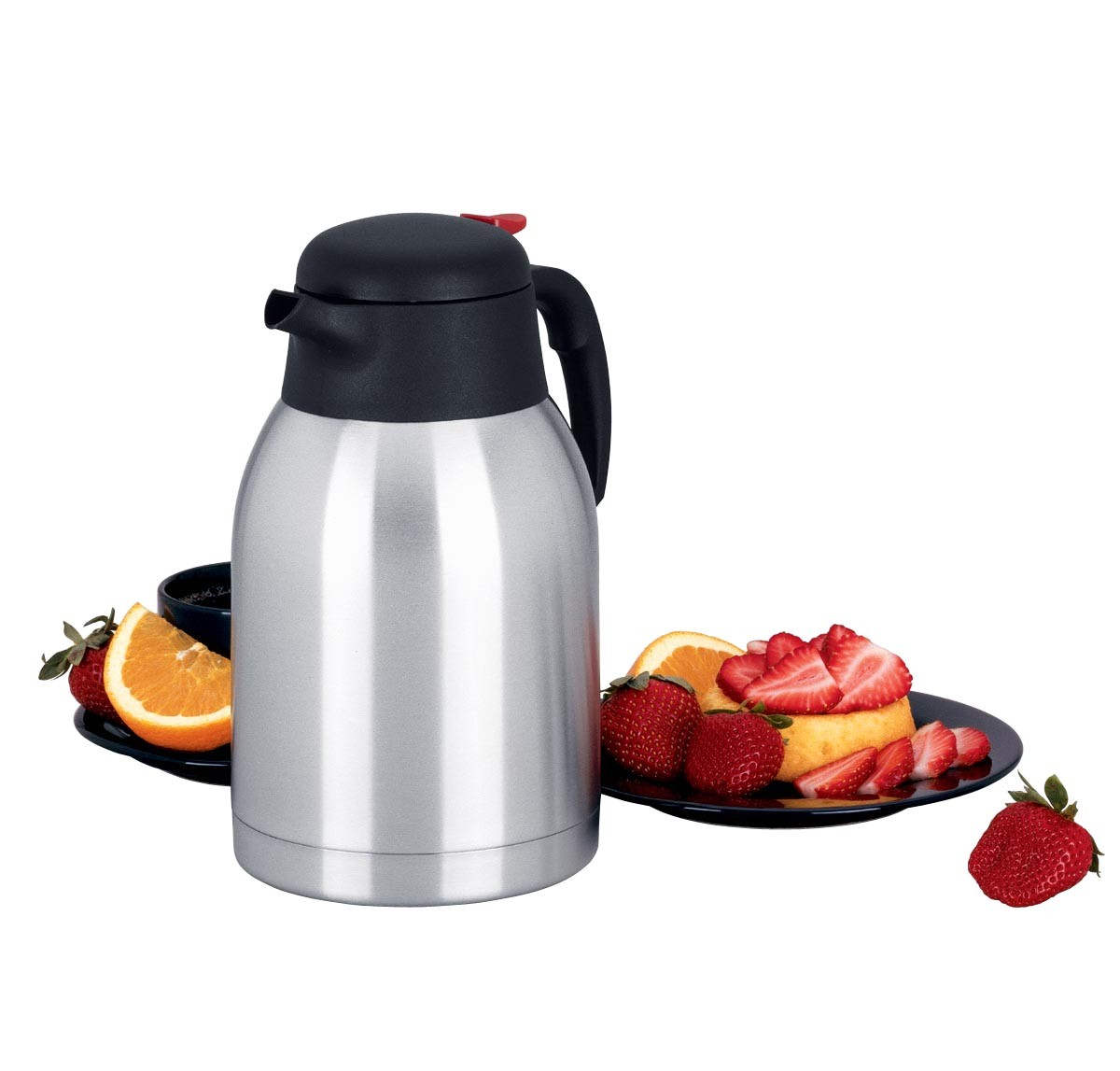 Focus Foodservice KPW9101 2 Liter Thermal Carafe with Trigger - 1/2 doz