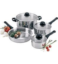 "Focus Foodservice KPWB9030 Clad Bottom Fry Pan 10"" - 4 pcs"