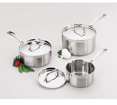 Focus Foodservice KPWB9031 1 Qt. Sauce Pan without Cover - 4 pcs