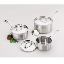 Focus Foodservice KPWB9032 Clad Bottom Sauce Pan 2.5 Qt. - 4 pcs