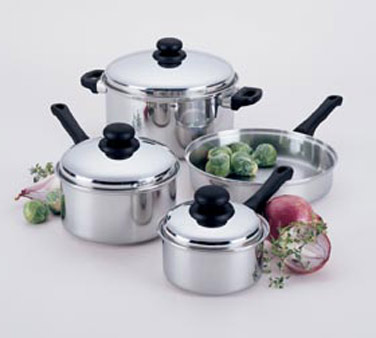 Focus Foodservice KPWB9032CV Stainless Steel Cover for 2-1/2 Qt. Sauce Pan - 4 pcs