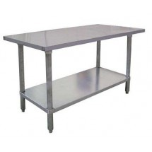 "Omcan (FMA) 22068 Stainless Steel Work Table 72"" W x 24"" D"