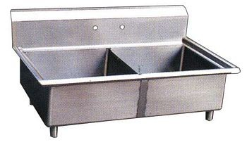 Omcan (FMA) 22113 Two Compartment Pot Sink