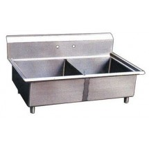 Omcan (FMA) 22119 Two Compartment Pot Sink, No Drain Board