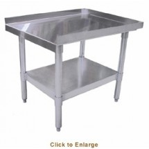 "Omcan (FMA) 24087 Stainless Steel Equipment Stand 15"" x 30"" x 24"""