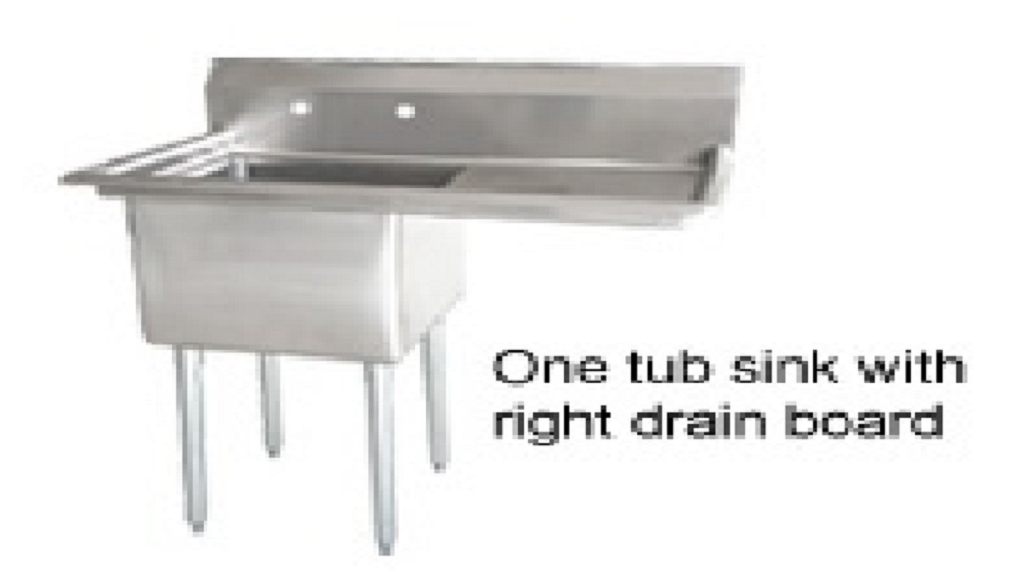 Omcan (FMA) 25247 One Compartment Pot Sink With Right Drain Board