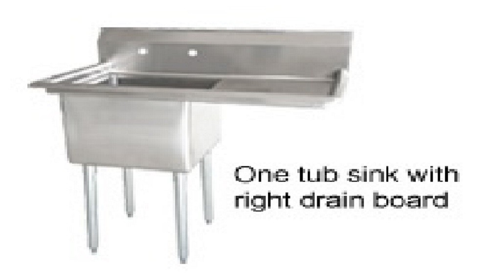 Omcan (FMA) 25254 One Compartment Pot Sink With Right Drain Board