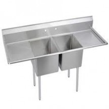 Omcan (FMA) 25269 Two Compartment Pot Sink With Left and Right Drain Boards