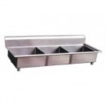 Omcan (FMA) 25270 Three Compartment Pot Sink, No Drain Board