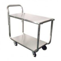 Omcan (FMA) 13118 Stainless Steel Solid Top Stock Cart, 700 lb. Capacity