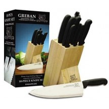 Omcan (FMA) B90499GRE 10 Piece Knife Set