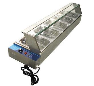Omcan (FMA) BSB-5 5 Well Electric Bain Marie Food Warmer