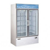 Omcan (FMA) 24273 Dual Glass Door Merchandiser Freezer 49