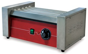 Omcan (FMA) HRRG5M 14'' Roller-type Hot Dog Grill
